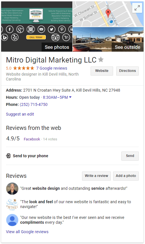 Mitro Digital Marketing local SEO
