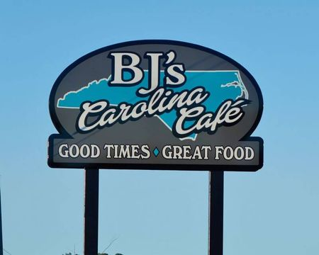 BJ's Carolina Cafe new sign
